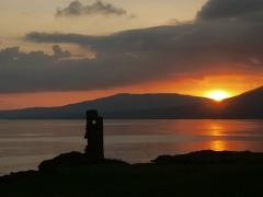 Dunmannus Castle Sunset
